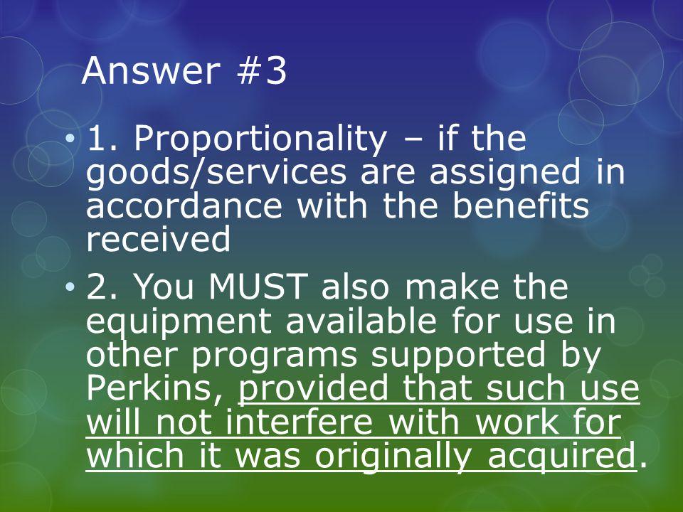 Answer #3 1.