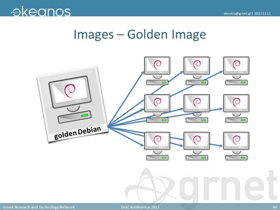 Greek Research and Technology NetworkDeIC konference 201240 vkoukis@grnet.gr| 20121112 Images – Golden Image golden Debian