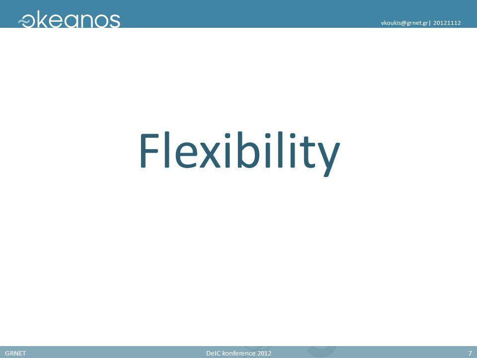 GRNETDeIC konference 20127 vkoukis@grnet.gr| 20121112 Flexibility