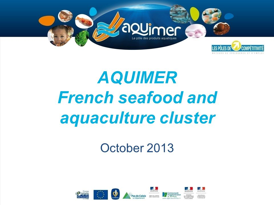 AQUIMER French seafood and aquaculture cluster October 2013