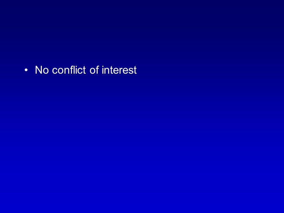 No conflict of interest