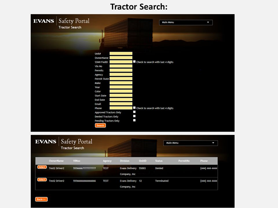 Tractor Search: