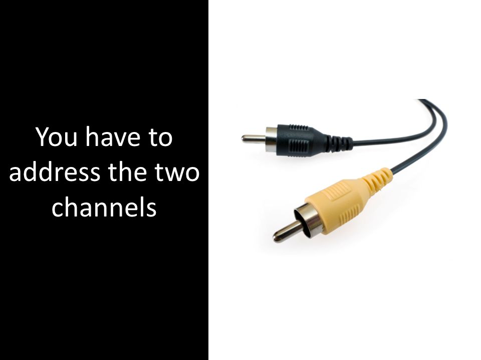 You have to address the two channels