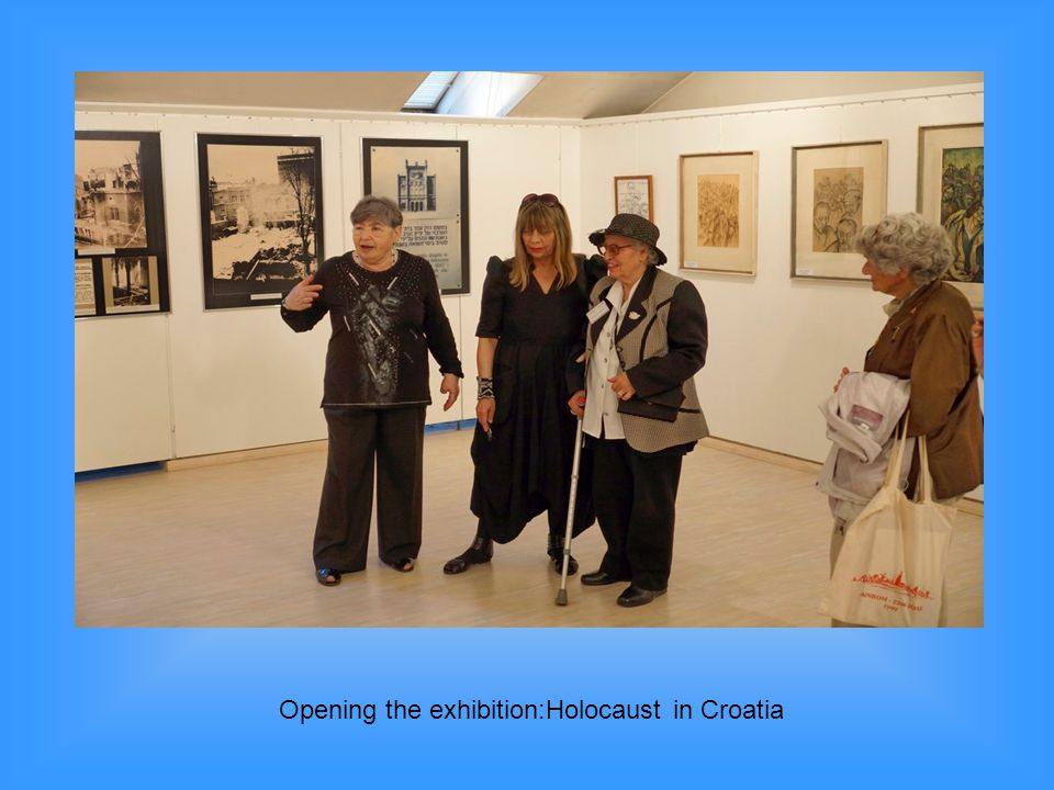 Opening the exhibition:Holocaust in Croatia