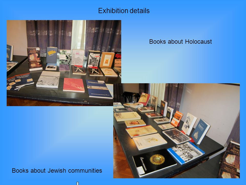 Books about Holocaust Books about Jewish communities Exhibition details