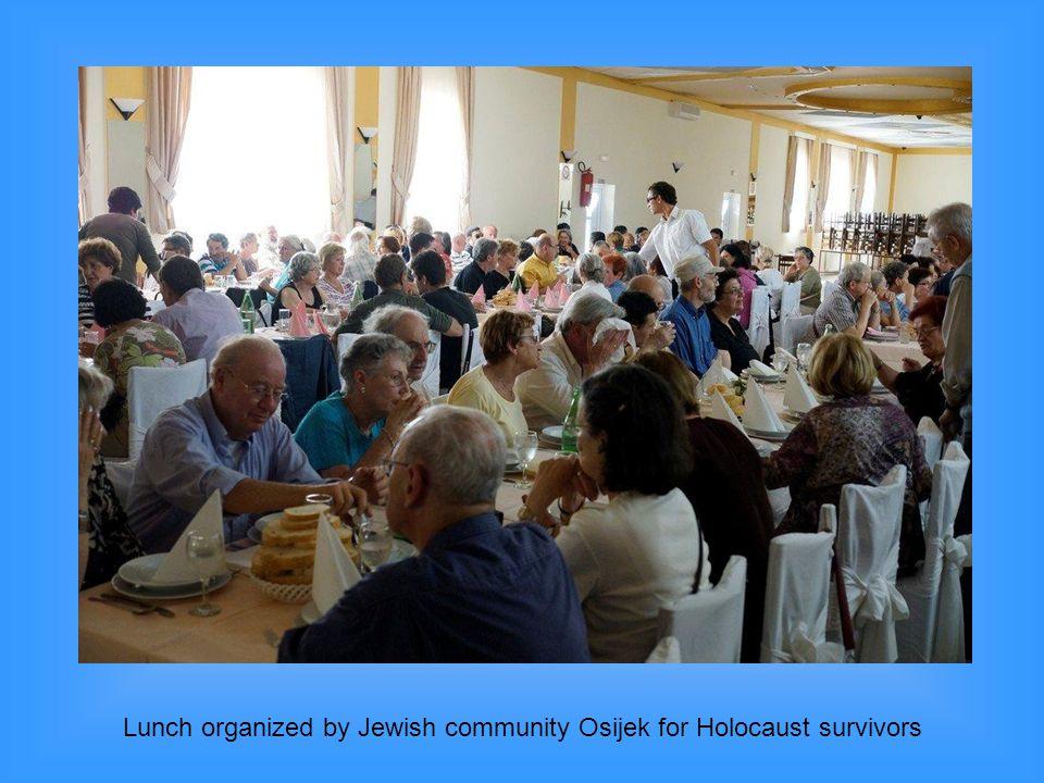Lunch organized by Jewish community Osijek for Holocaust survivors