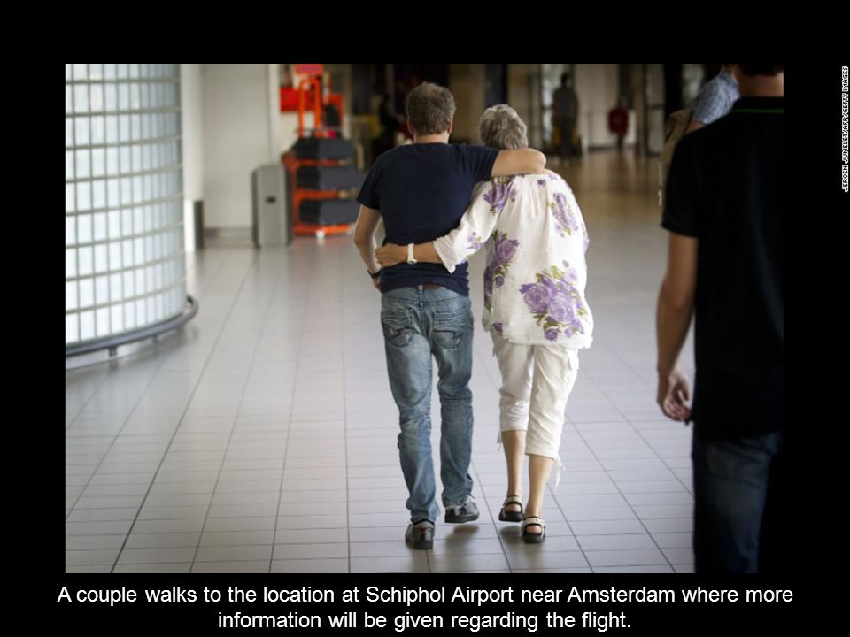 Family members of those aboard Flight 17 leave Schiphol Airport near Amsterdam, Netherlands.
