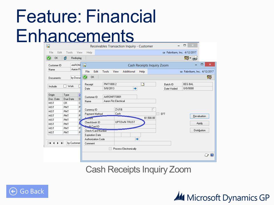 Feature: Financial Enhancements