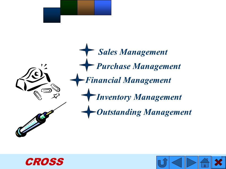 CROSS Inventory Management Outstanding Management Sales Management Purchase Management Financial Management