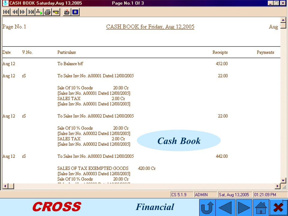 CROSS Cash Book Financial