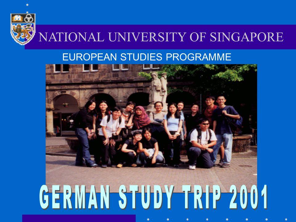 NATIONAL UNIVERSITY OF SINGAPORE EUROPEAN STUDIES PROGRAMME