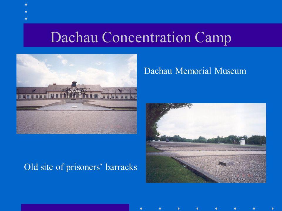 Dachau Concentration Camp Dachau Memorial Museum Old site of prisoners' barracks