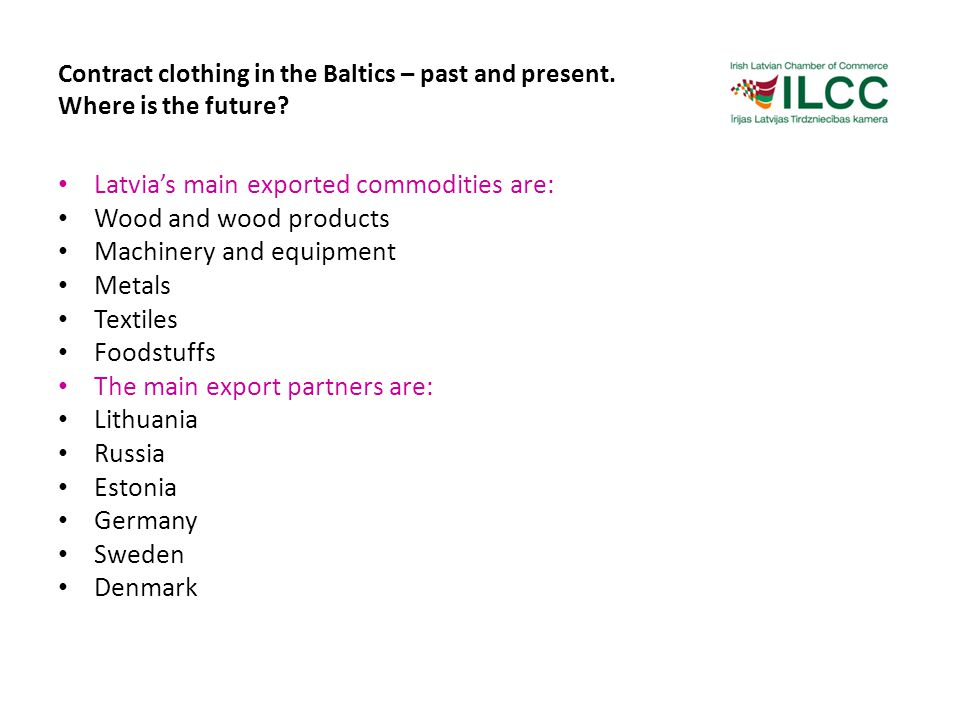 Contract clothing in the Baltics – past and present.