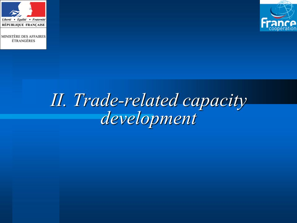 II. Trade-related capacity development