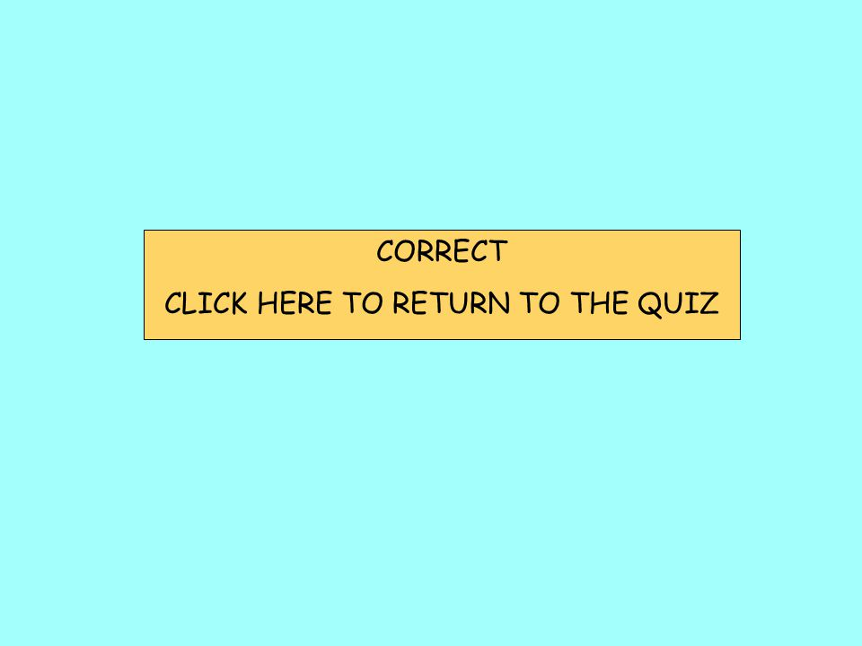 CORRECT CLICK HERE TO RETURN TO THE QUIZ