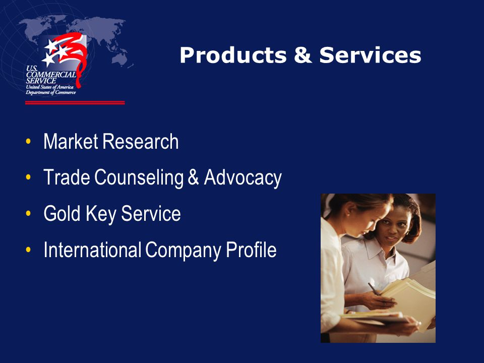 Products & Services Market Research Trade Counseling & Advocacy Gold Key Service International Company Profile