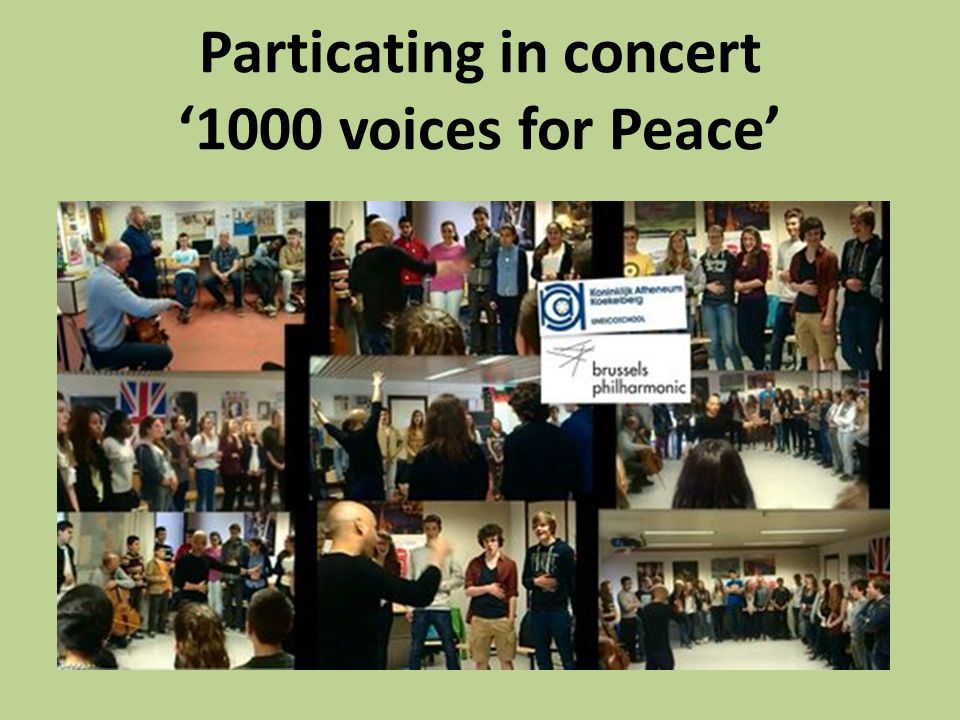 Particating in concert '1000 voices for Peace'