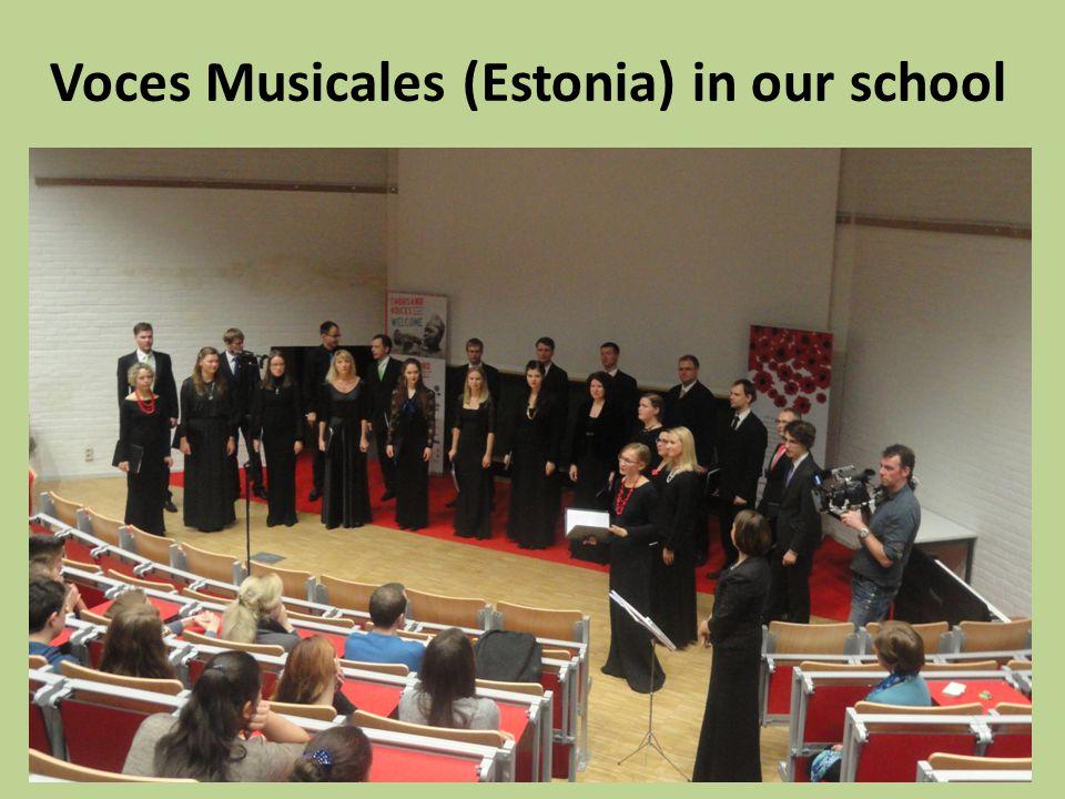 Voces Musicales (Estonia) in our school