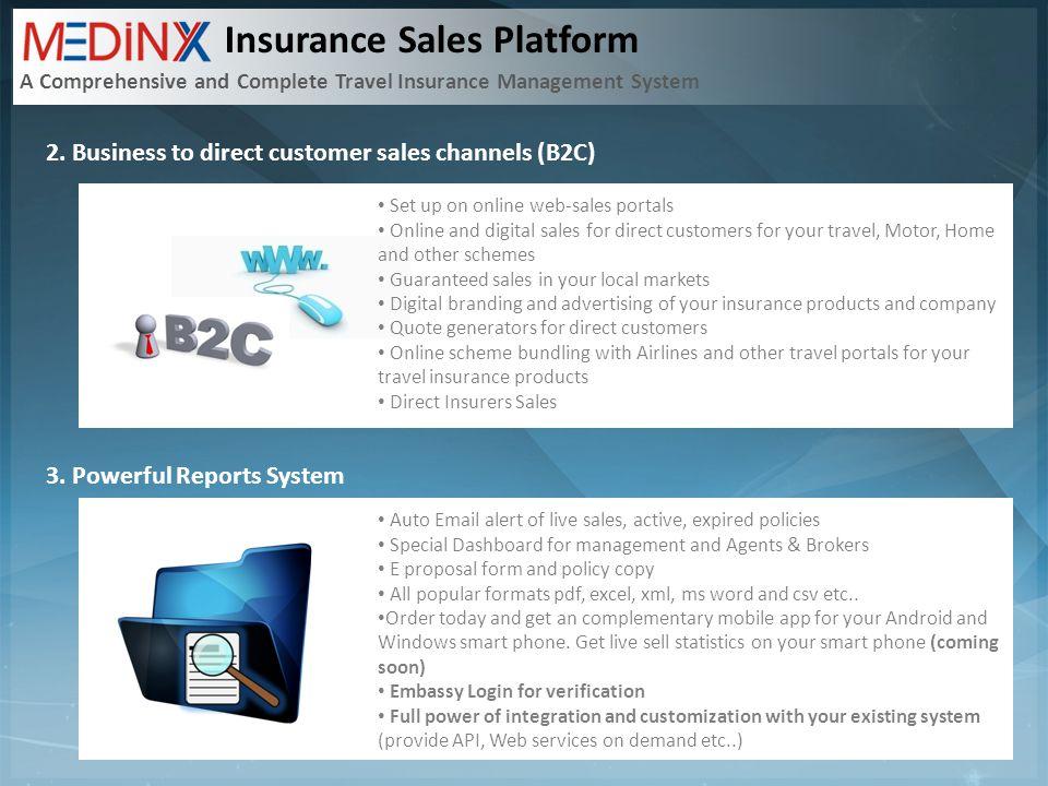 Insurance Sales Platform A Comprehensive and Complete Travel Insurance Management System 2.