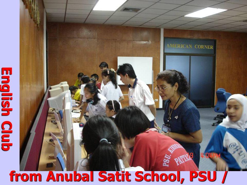 from Anubal Satit School, PSU / Nov.19, 2004 English Club Students