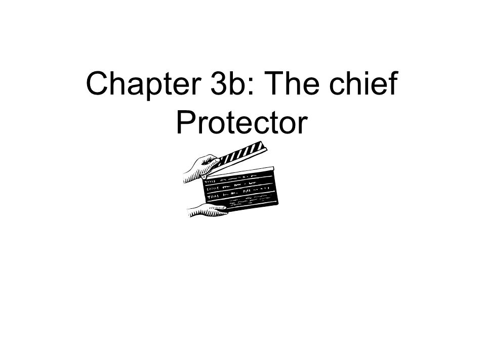 Chapter 3b: The chief Protector