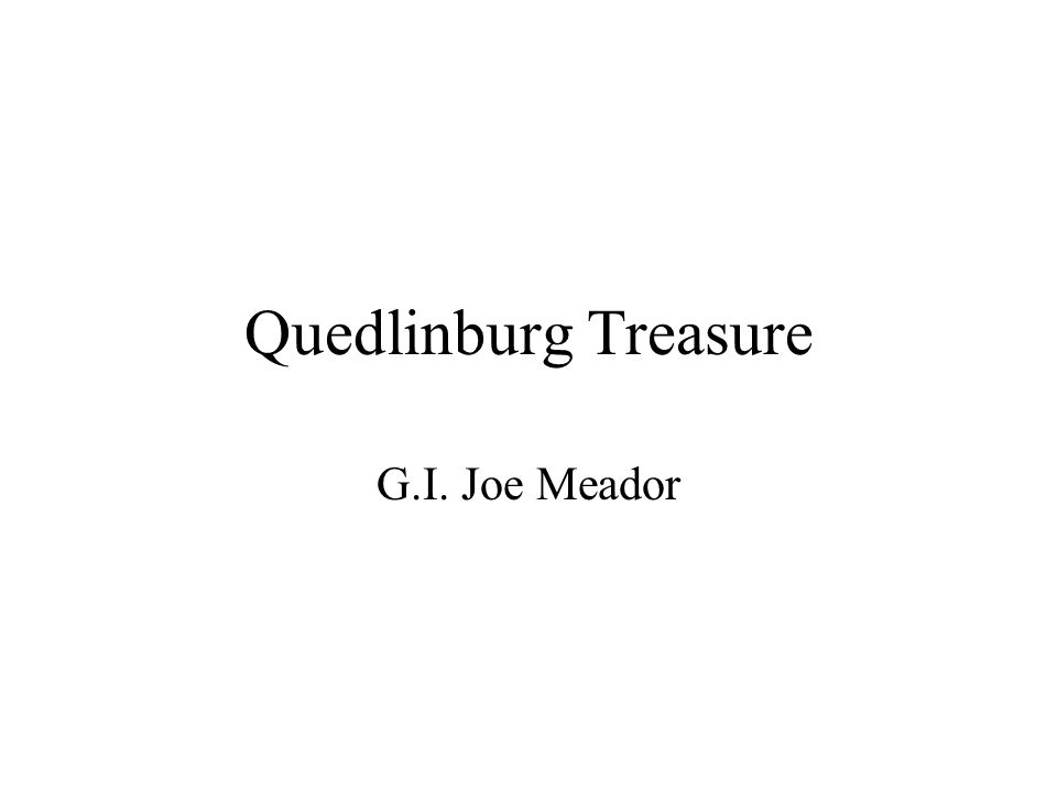 Quedlinburg Treasure G.I. Joe Meador