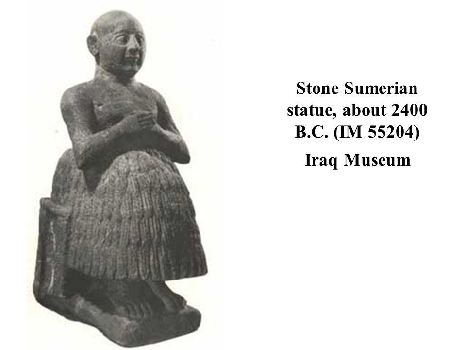 Stone Sumerian statue, about 2400 B.C. (IM 55204) Iraq Museum