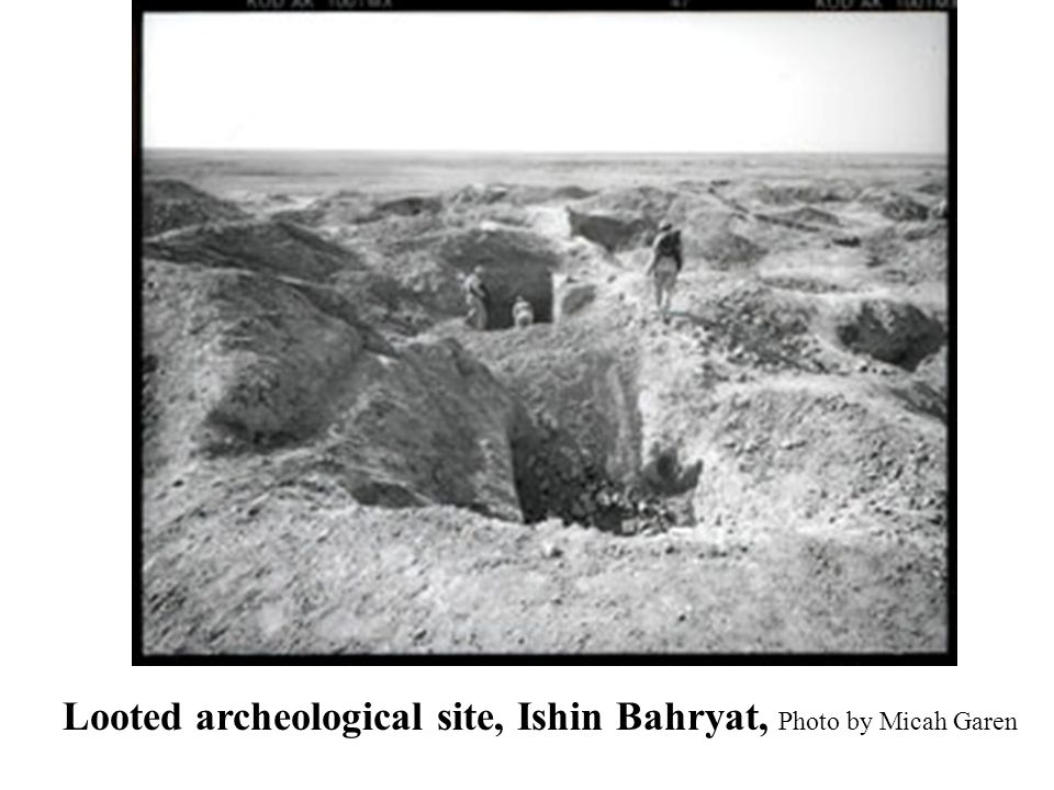 Looted archeological site, Ishin Bahryat, Photo by Micah Garen