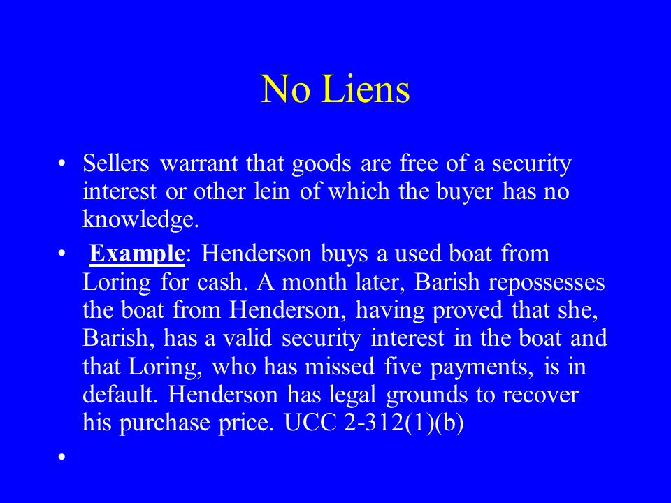 No Infringements Merchant sellers warrant that the goods are free of any third person s patent, trademark, or copyright claims.