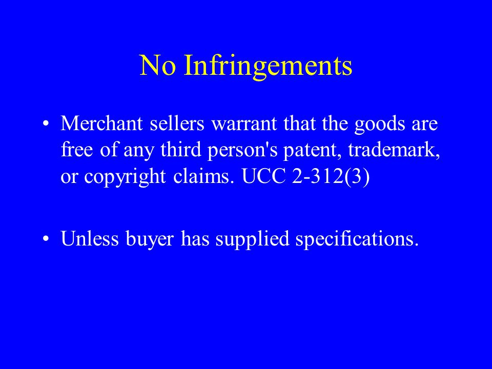 Warranty Disclaimers Implied warranties of merchantability and fitness are disclaimed by the expressions as is, with all faults, and other similar expressions that in common understanding for both parties call the buyer s attention to the fact that there are no implied warranties [UCC 2-316(3)(a), 2A-214(3)(a)].