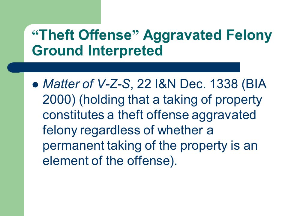 Burglary: Aggravated Felony.Remember. A burglary offense may also be a crime of violence.