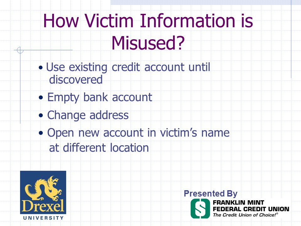 How Victim Information is Misused.