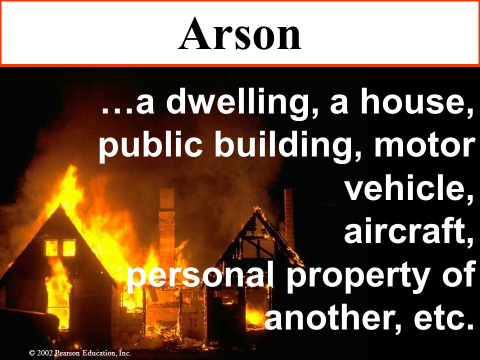 …a dwelling, a house, public building, motor vehicle, aircraft, personal property of another, etc.