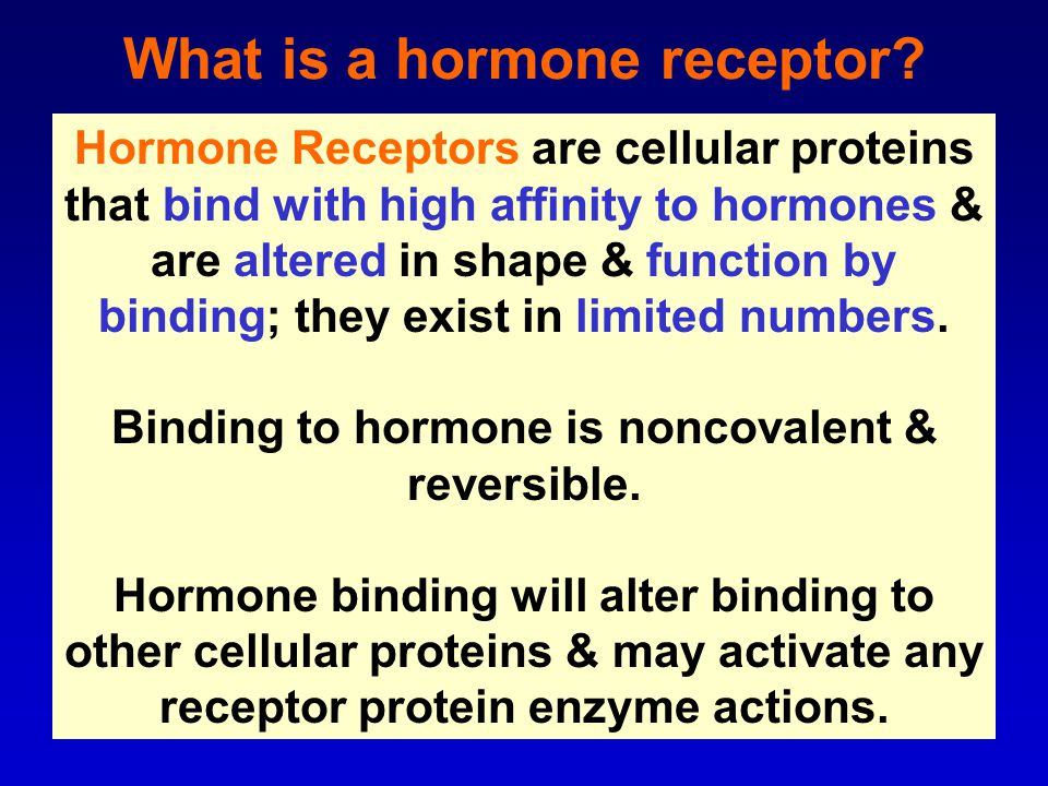 What is a hormone receptor.