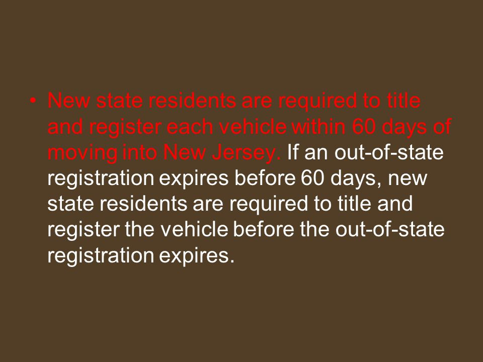 How to Complete an Initial Registration Complete the application at any motor vehicle agency, including current vehicle insurance company and personal policy number.