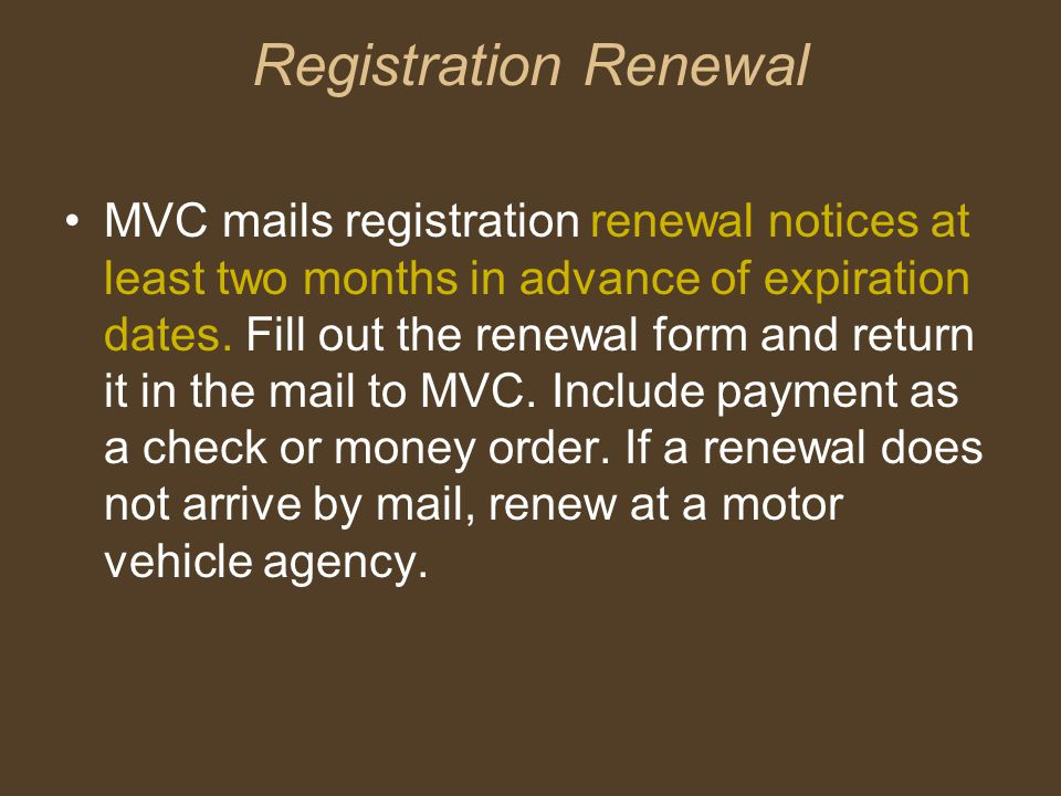 General Registration Information MVC no longer issues license plate registration decals to passenger vehicle and light truck owners, as of October 2004.