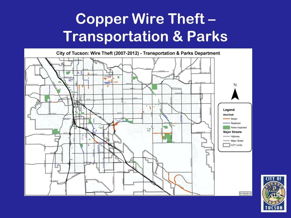 Copper Wire Theft – Transportation & Parks