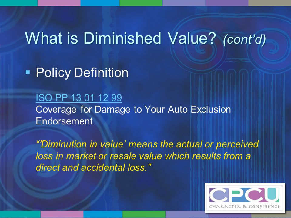 What is Diminished Value.