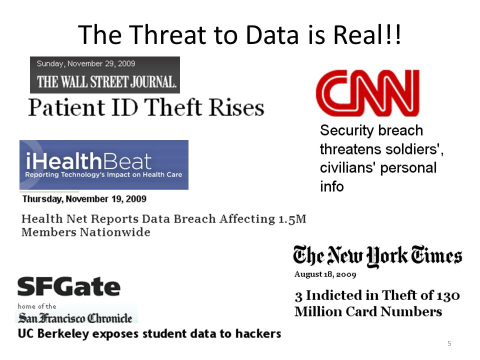 The Threat to Data is Real!! 5