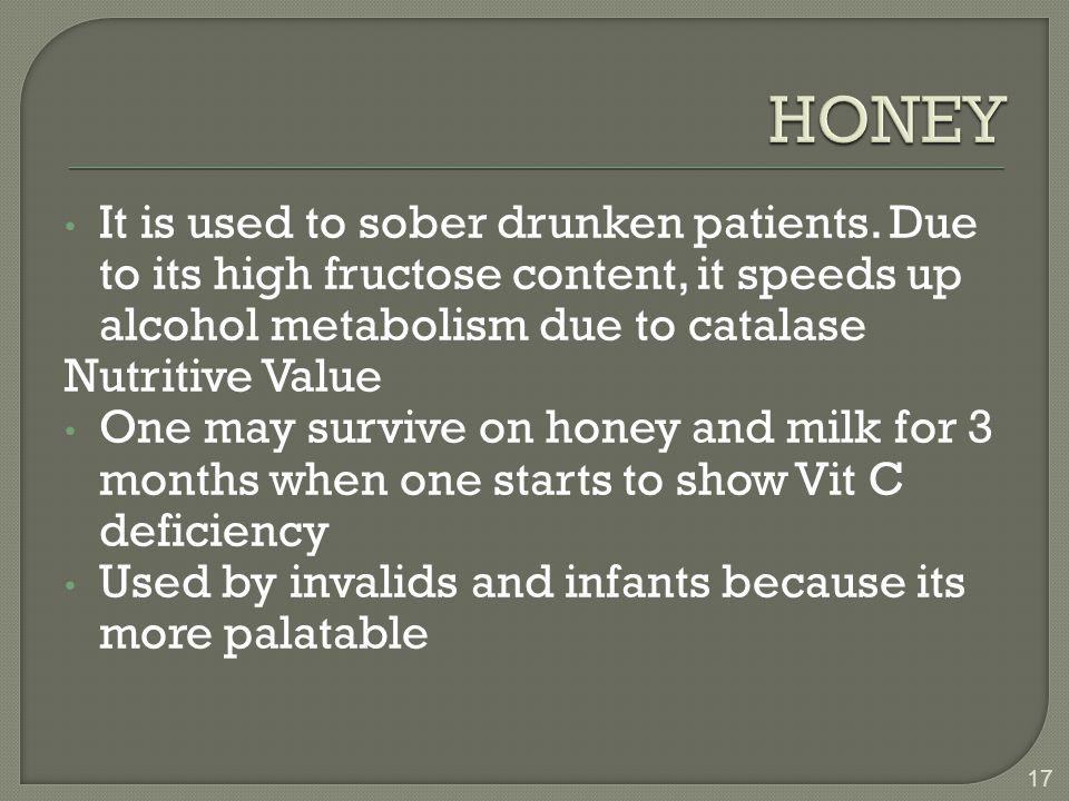It is used to sober drunken patients.