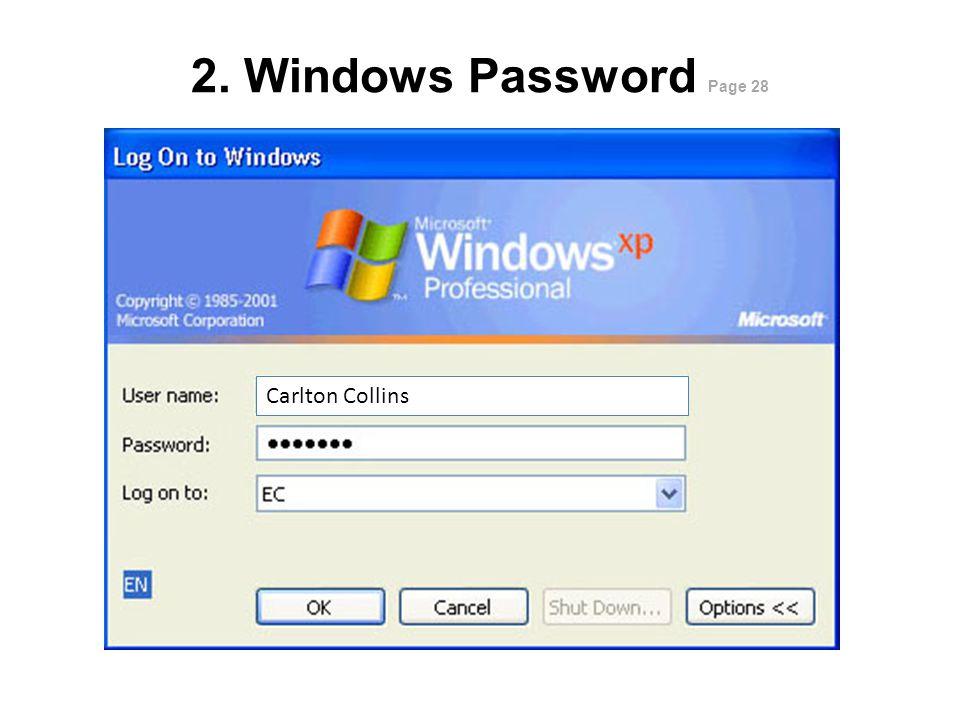 1. BIOS Password Page 28