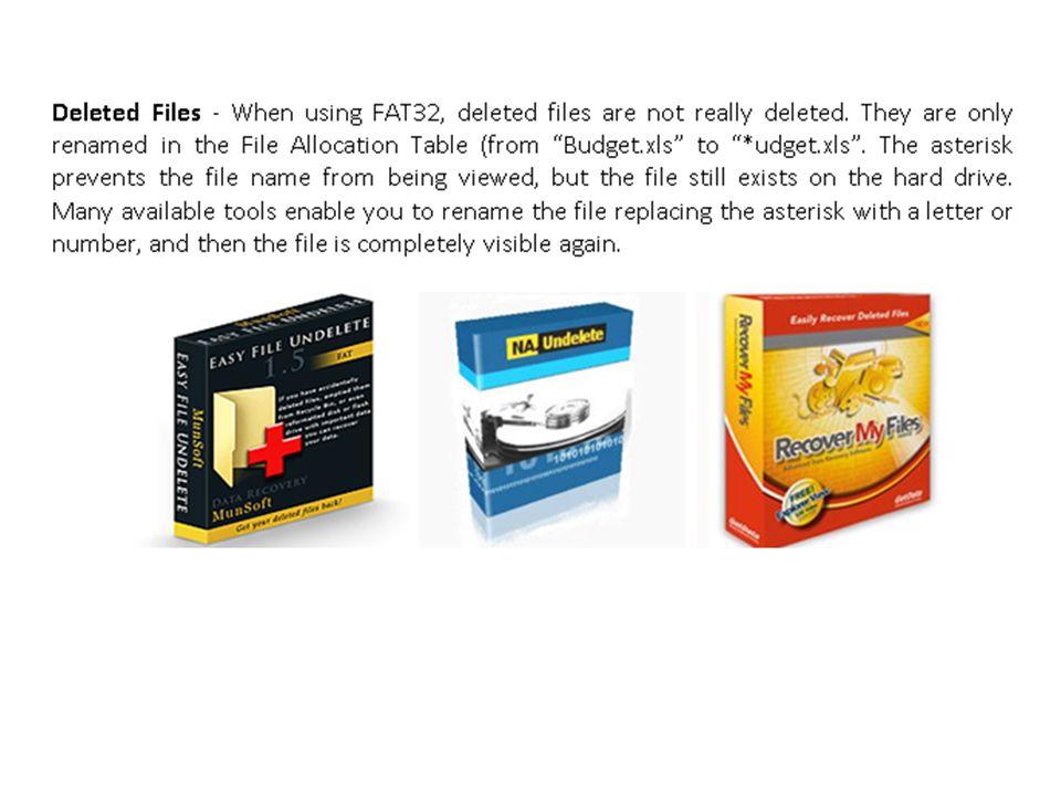 FAT32 versus NTFS Do Not Choose FAT 32 Do Choose NTFS