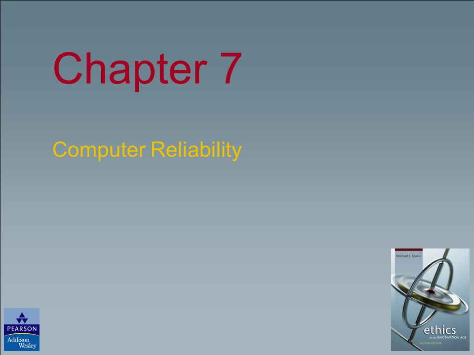 Chapter 7 Computer Reliability