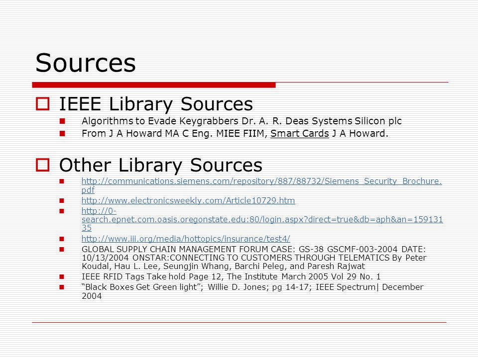 Sources  IEEE Library Sources Algorithms to Evade Keygrabbers Dr.