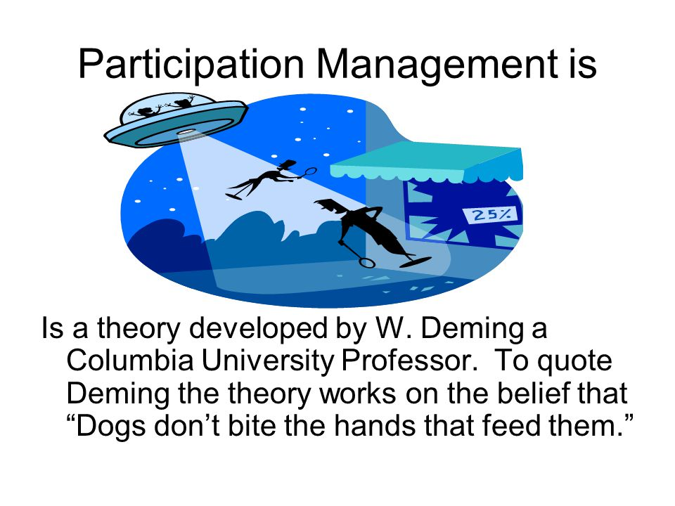 Participation Management is Is a theory developed by W.