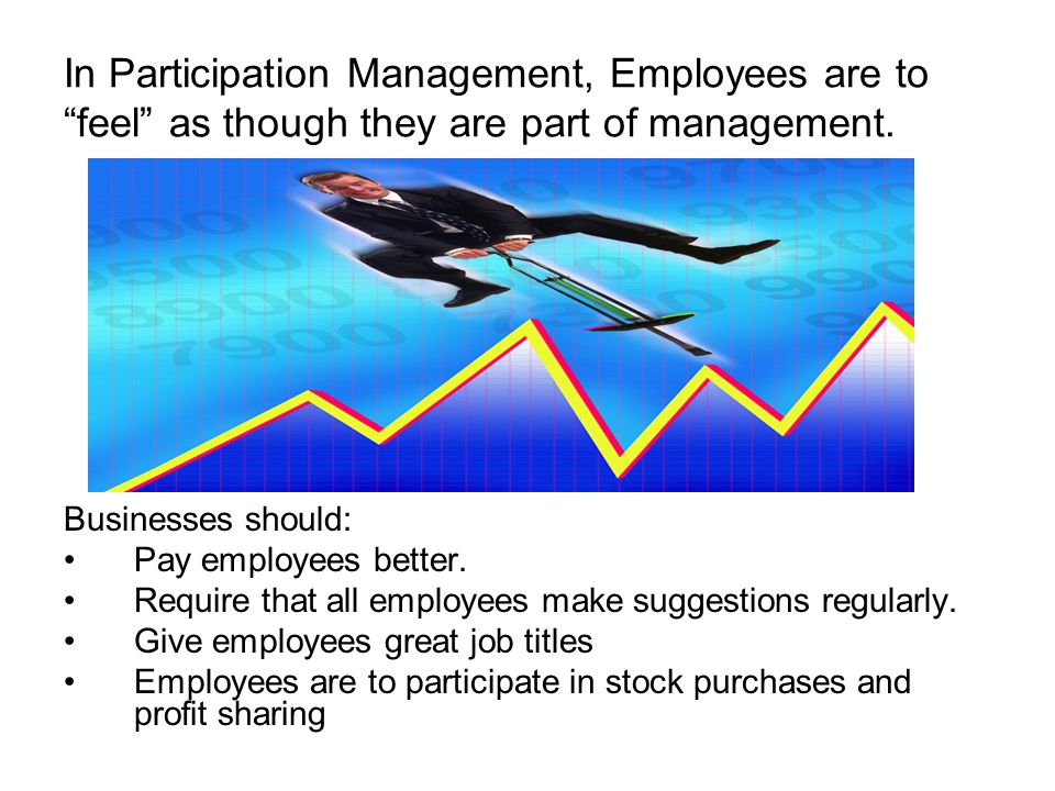 In Participation Management, Employees are to feel as though they are part of management.