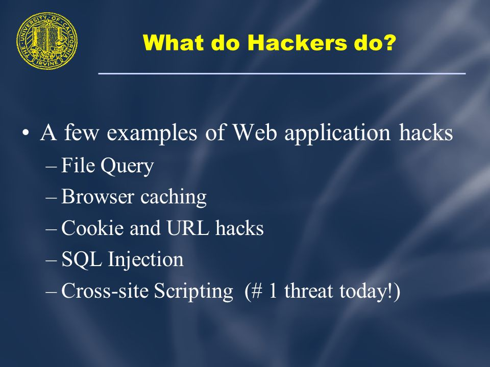 What do Hackers do.