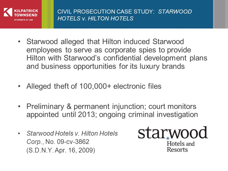 CIVIL PROSECUTION CASE STUDY: STARWOOD HOTELS v.