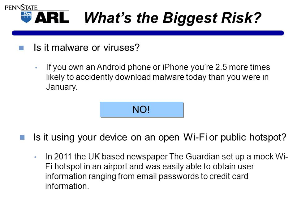 What's the Biggest Risk. Is it malware or viruses.