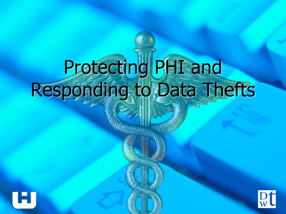 Protecting PHI and Responding to Data Thefts